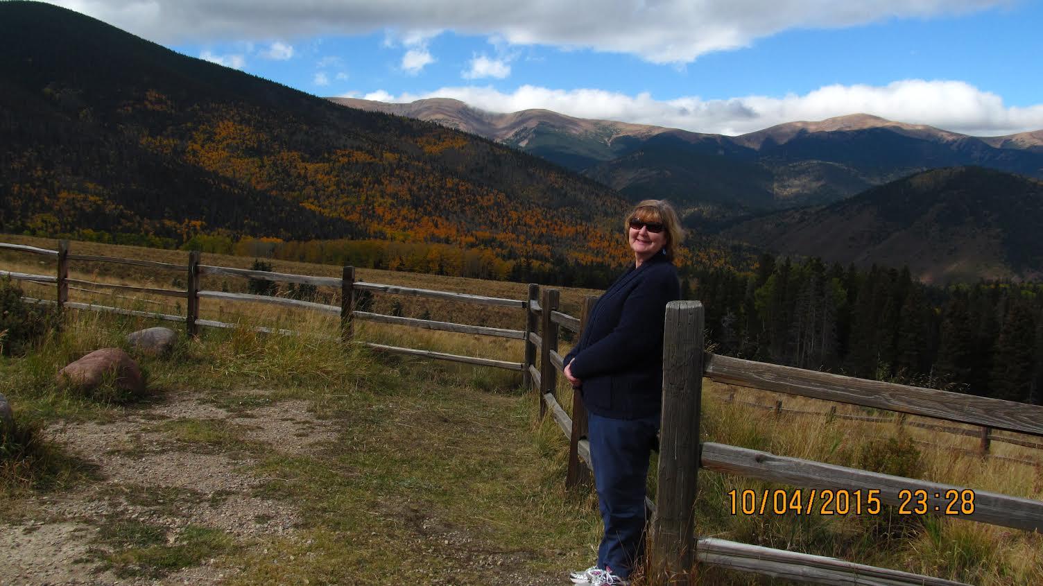 Laura at Cordova Pass Overlook October 2015