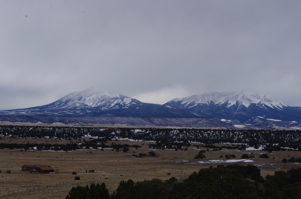 Clouds over the Spanish Peaks in January 2016