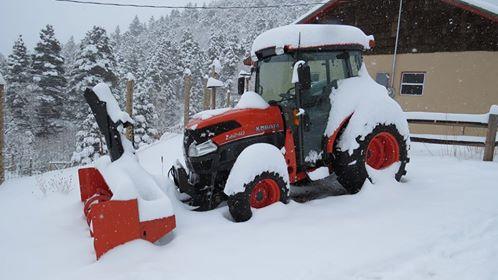 Manuel's snow tractor