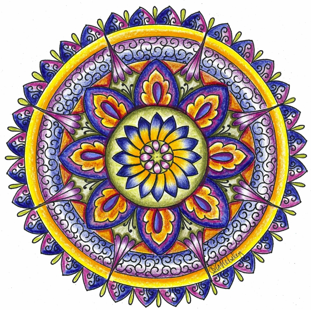 purple-and-yellow-mandala