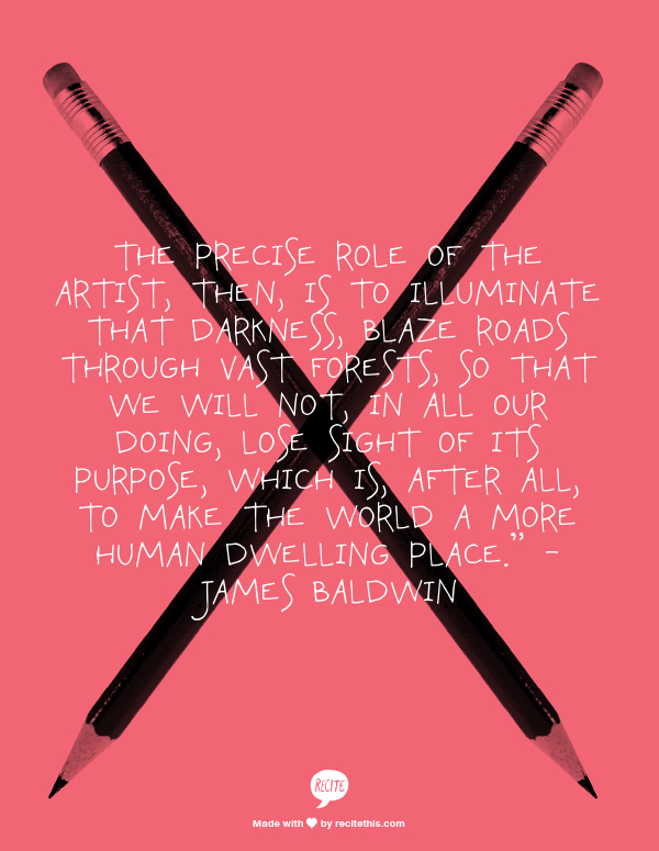 creativity and James Baldwin