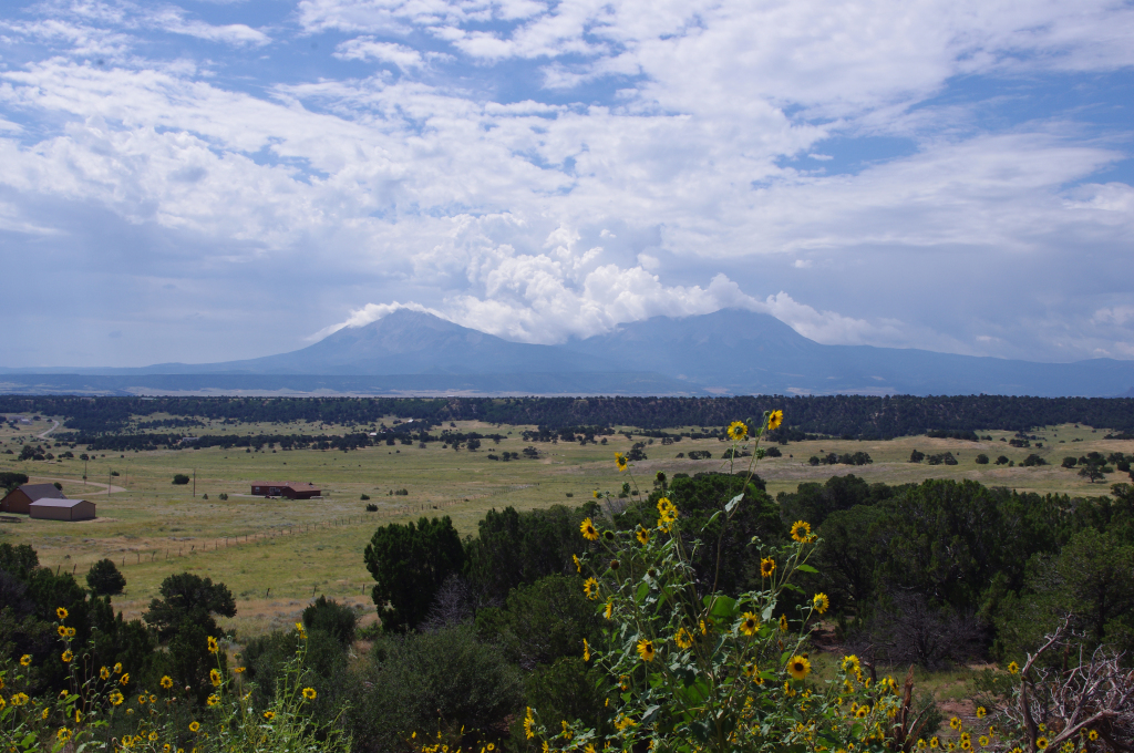 clouds over Spanish Peaks summer