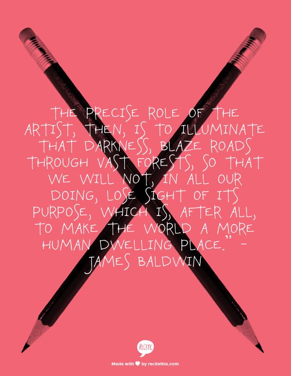 creativity and James Baldwin