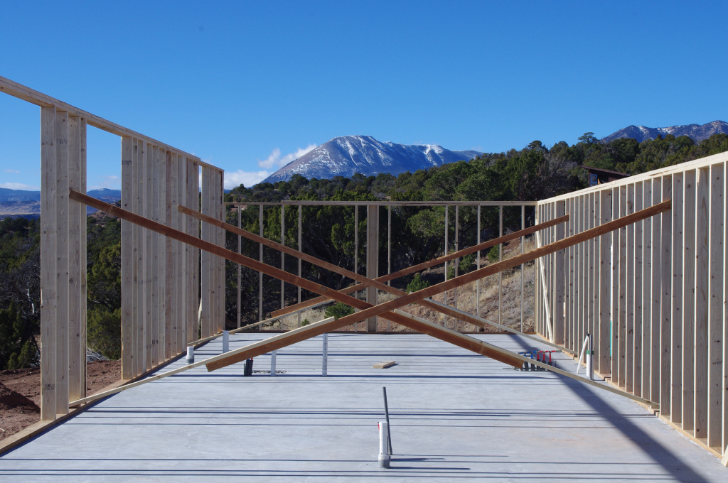 slab and framing of comanche drive