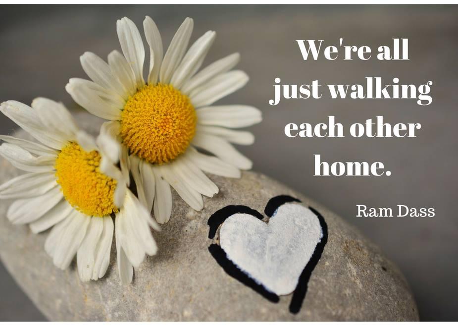 Ram Dass Walking each other home