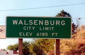 Walsenburg city limits sign