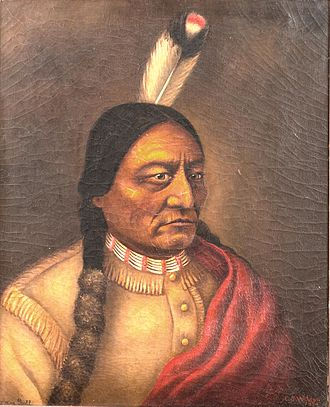 Sitting_Bull_by_Caroline_Weldon_oil_on_canvas_1890