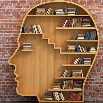 cool brain bookshelf